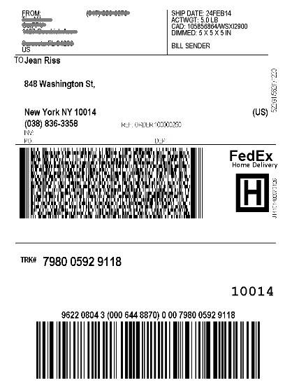erp shipworks shipping label