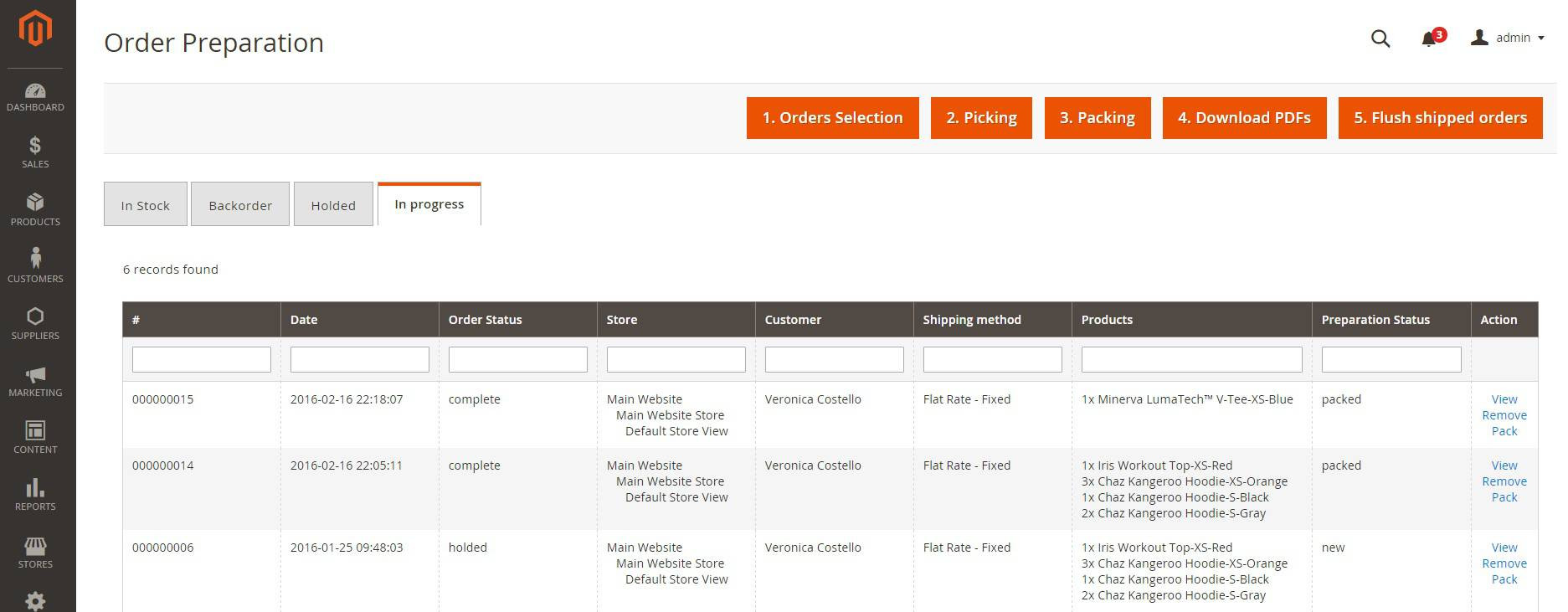 screen 3 order preparation erp magento 2