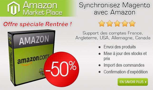 Promo de rentrée Amazon pour Magento