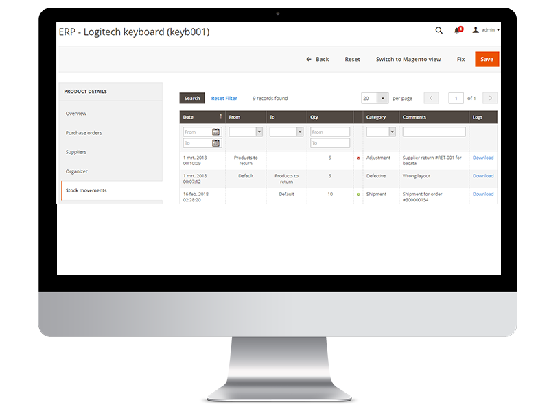 supplier return magento 2 return to vendor order