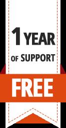 1 an support offert