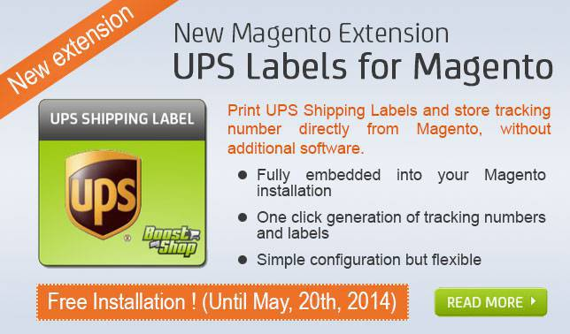 UPS Labels for Magento : Free installation