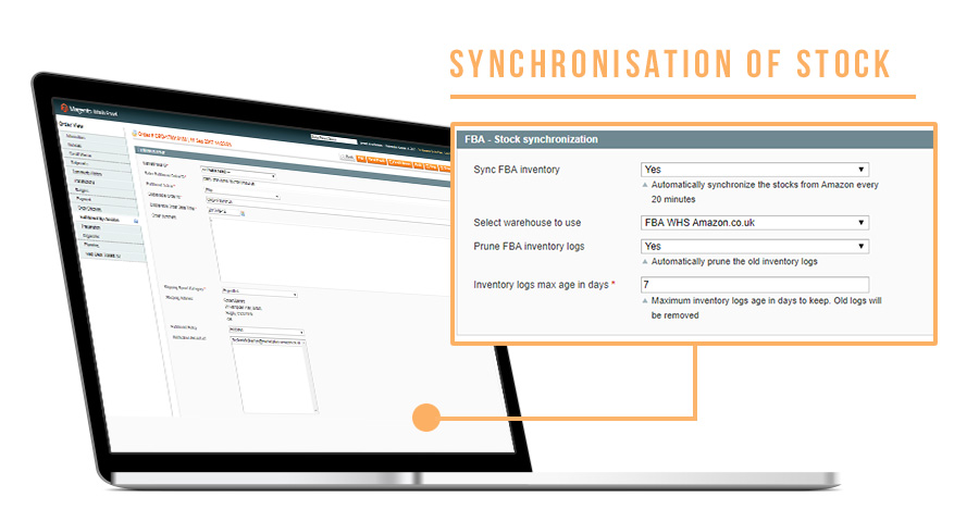 Screen Amazon Magento FBA Stock synchronization
