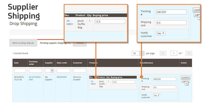 Screen Drop Shipping M2 Shipping
