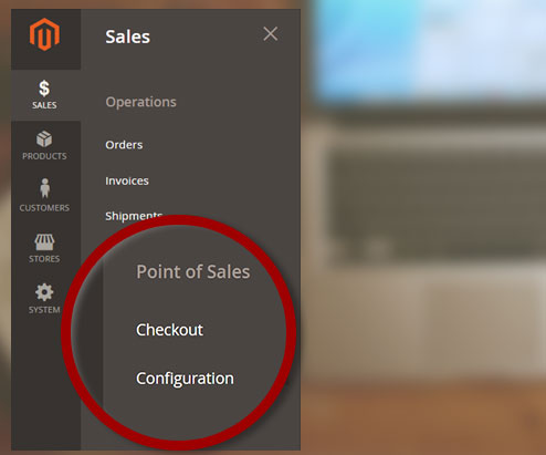Screen Point of Sales M2 Menu
