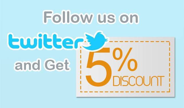 follow us and get 5%